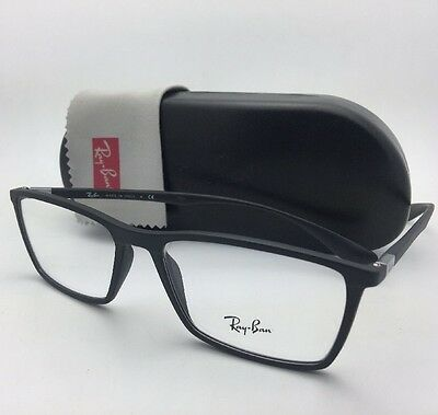 fc24ad69f9 New Lightweight RAY-BAN Eyeglasses RB 7049 5204 56-17 145 Matte Black Frames