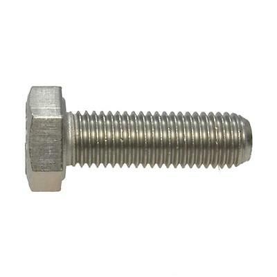 "Hex Set Screw 1/4"" UNF Imperial Fine Bolt Stainless Steel G304"