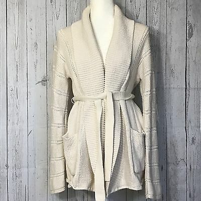 Gap Maternity Open Front Cardigan Sweater Beige, Size Large 100% Cotton