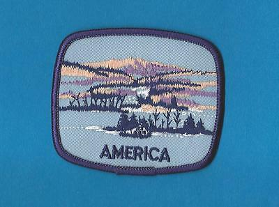 America USA Iron On Hat Jacket Hoodie Biker Vest Backpack Travel Patch Crest A