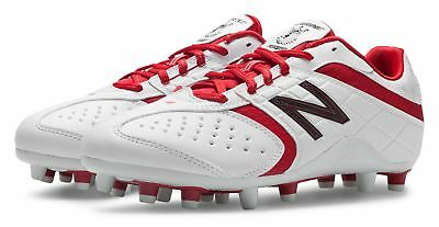 New Balance Womens Lacrosse Lo-Cut 5464 Cleat Shoes White with Red