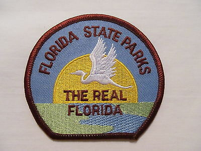 Florida State Parks The Real Florida Collectible Souvenir Hat Jacket Patch Crest