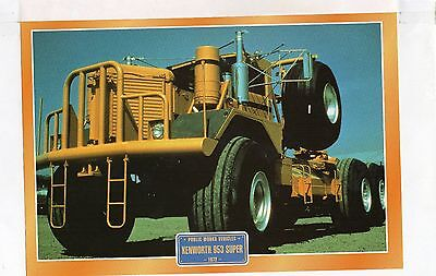 Kenworth 953  Super   1972         Glossy   Picture (T447)