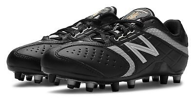 New Balance Womens Lacrosse Lo-Cut 5464 Cleat Shoes Black with Grey