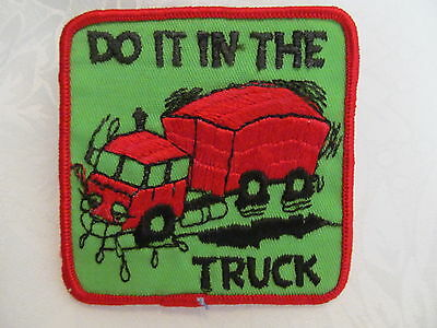 Vintage 70s Biker Trucker Hat Hippie Jacket Patch DO IT IN THE TRUCK