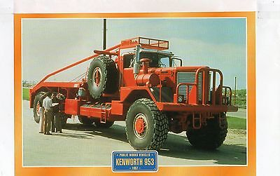 Kenworth 953   1957          Glossy   Picture (T451)