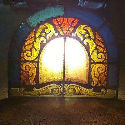 100+ Year Old Gothic Fired Leaded Stained Glass Arch From A Newark Nj Church