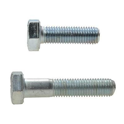 "Hex Head Bolt 7/16"" UNF Imperial Fine Screw Steel HT Grade 8 Zinc Plated"