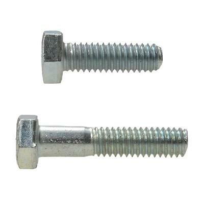 """Hex Head Bolt 1/4"""" UNC Imperial Coarse Screw BSW Steel HT Grade 8 Zinc Plated"""
