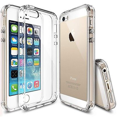 New Transparent Crystal Clear Gel TPU SHOCKPROOF Bumper Case For iPhone 5s 5 SE