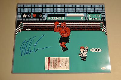 Mike Tyson Signed 16x20 Nintendo Punch Out Photo Autographed JSA