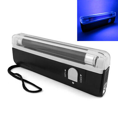 Portable Handheld UV Light Torch Blacklight Counterfeit Bill Detector Currency