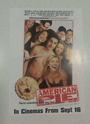 "Promotional 7"" X 11"" Australian Release Movie Flyer - American Pie(1999)"