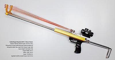 Hunting Slingshot Rifle -Driving force by Super Rubber Band Tubes Deluxe Version