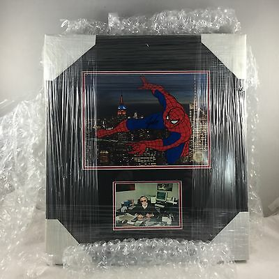 SPIDERMAN Stan Lee Picture and Autograph Framed Sericel Marvel Wondercon 2017