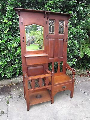 Arts and Crafts Silky Oak Hallstand c.1905