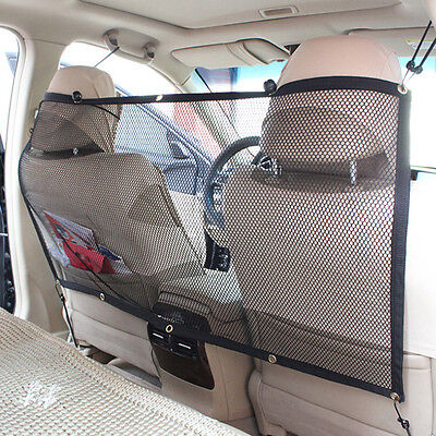 Safety Auto Car Pet Dog Net Mesh Oxford Back Seat Net Mesh Barrier Travel Screen