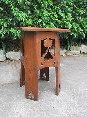 Arts and Crafts Oak Plantstand/Table c.1905