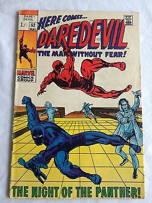 Marvel Comics Daredevil #52 May 1969 Black Panther