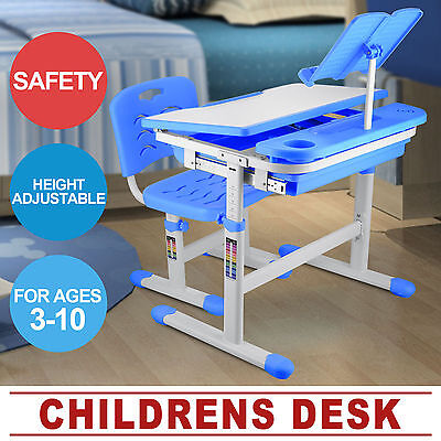 Adjustable Height Kids Study Desk Chair Safety Seamless  Structual Durabilities