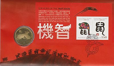 Australia / Christmas Island Chinese Lunar New Year PNC 2008 Year of the Rat