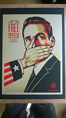 """Shepard Fairey """" Pay Up Or Shut Up"""" 2015"""