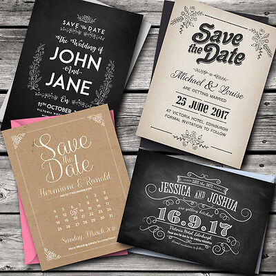 Save the Date Cards, Personalised Wedding Invitations / Post cards
