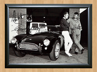 Steve McQueen Carroll Shelby Signed Autographed A4 Photo Print Poster Bullit dvd