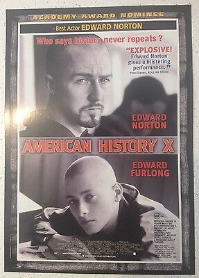 "Promotional 8.5"" X 6.5"" Australian Release Movie Flyer - American History X"
