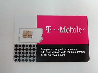 Lot of 30 T-Mobile Nano Sim 4G LTE UNACTIVATED, REPLACEMENT SIM CARD