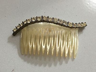 Riviera Hand Made In France Vintage Rhinestone Hair Comb