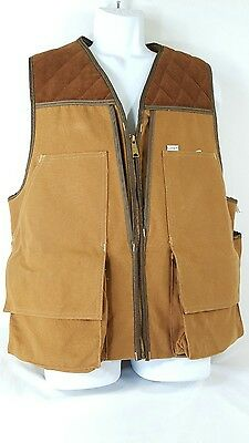 49fd38b0db974 Vtg.Carhartt Upland Bird Hunting Vest MEN Game Pouch UNION MADE Jacket sz L  USA