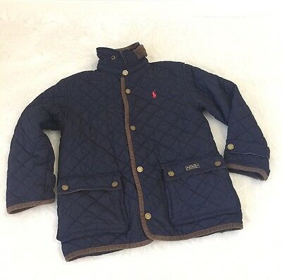 *READ* Boy's Polo Ralph Lauren Jacket Quilted Navy Blue Size 7