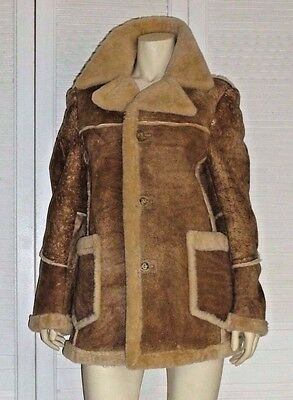 Men's Shearling Leather Coat Jacket Made by Deerskin Trading Post 4 Cold Weather
