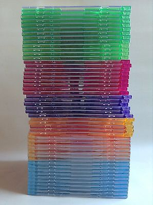 50 Color Slim DVD CD Game Music Storage Cases - Pack of 50