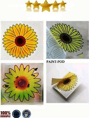 4 x Fly Trap Insect Insects Killer Catcher Bugs Fly's Window Sticker Sunflower