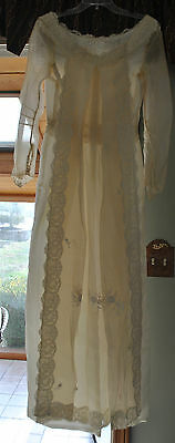"Antique Vintage Ivory Wedding Bridal Gown 32"" Bust, 2-Piece!"