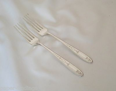 TWO Grosvenor Dinner Forks 1921 Community Oneida Silverplate - 2