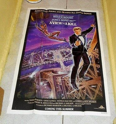 original James Bond A VIEW TO A KILL advance one-sheet poster Roger Moore