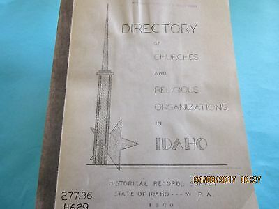 Directory Of Churches And Religious Organizations In Idaho Paperback 1940