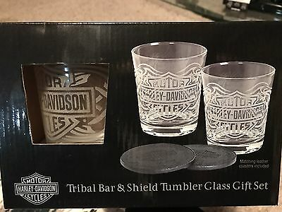 HARLEY DAVIDSON ®  Tribal Bar & Shield Tumbler Gift Set