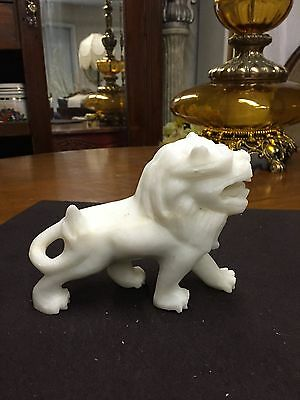 Vintage Chinese Foo Dog Guardian Lion  Marble