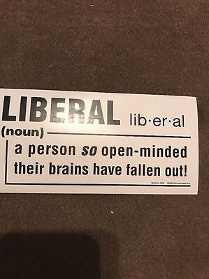 Liberal A Person So Openminded Their Brains Have Fallen Out. Trump 2017 Sticker