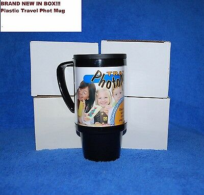 Lot of 16 Plastic Photo Travel Mugs
