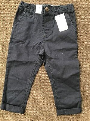 Target Baby Toddler Boy Navy Blue Chinos Pants Size 2, 18-24 Months BNWT New