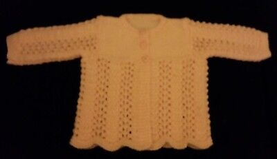 Baby Lacy Jacket In Pink With Cute Flower Buttons (Size 00 - 0)