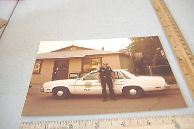 "~CLIFTON POLICE CAR & UNIFORMED OFFICER ~ARIZONA PHOTO~5"" x 7""~9~"