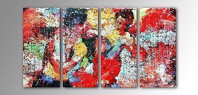 Modern Abstract of Rocky Balboa vs Apollo Creed on Brushed Metal 4 Large Panels