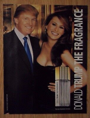 2004 Print Ad Donald Trump Cologne Fragrance ~ President Donald & Melania Trump