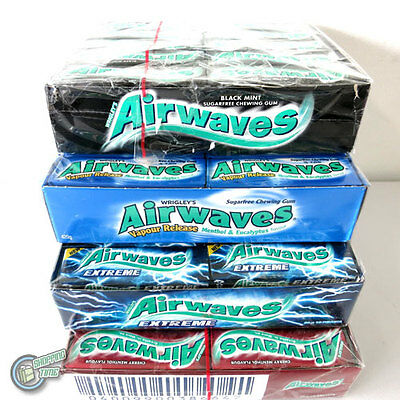 30 x 10 Pellets AIRWAVES SUGARFREE CHEWING GUM Wrigley's Wrigley Airwave